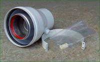 Ariston adaptér na kotel 60/100 Al na 80/125 ,sběrač kondenzátu